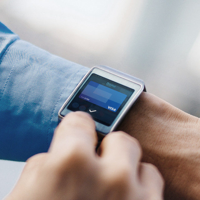 close up of a smart watch