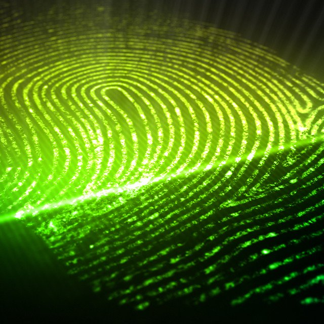 glowing digital thumbprint